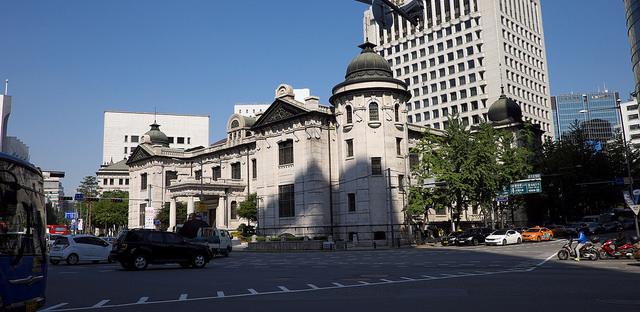004韓国銀行前交差路④ 韓国銀行貨幣金融博物館旧朝鮮銀行本店