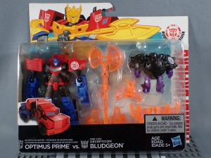 Transformers Robots in Disguise Decepticon Hunter Optimus Prime vs Decepticon Bludgeon Pack001