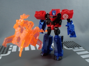 Transformers Robots in Disguise Decepticon Hunter Optimus Prime vs Decepticon Bludgeon Pack036