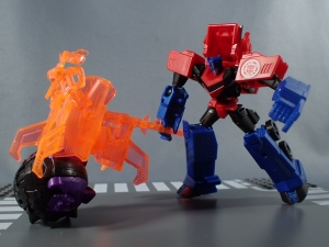 Transformers Robots in Disguise Decepticon Hunter Optimus Prime vs Decepticon Bludgeon Pack038