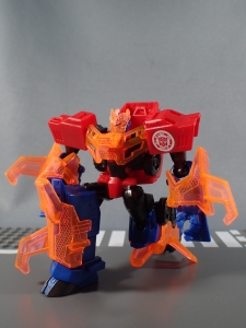 Transformers Robots in Disguise Decepticon Hunter Optimus Prime vs Decepticon Bludgeon Pack050