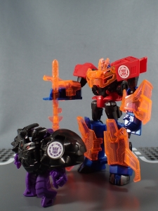 Transformers Robots in Disguise Decepticon Hunter Optimus Prime vs Decepticon Bludgeon Pack054