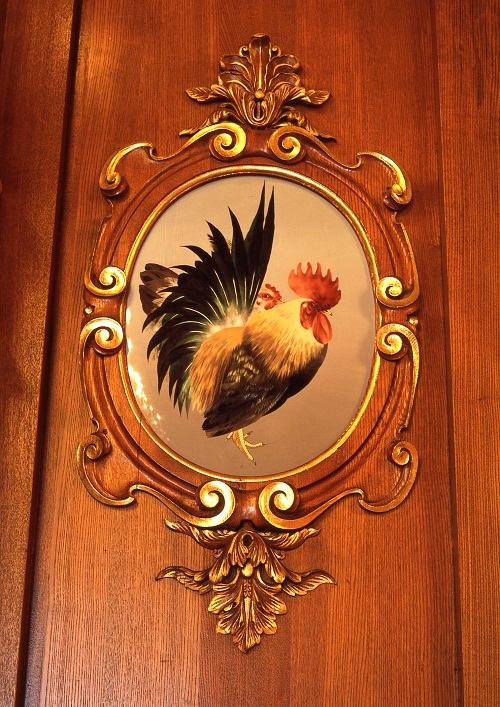 花鳥の間(七宝額「矮鶏」)