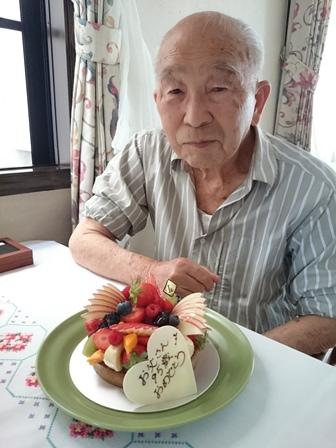 0723お父さん95歳お祝い