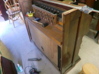 reed organ の改造