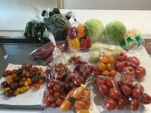 直売所で買った野菜