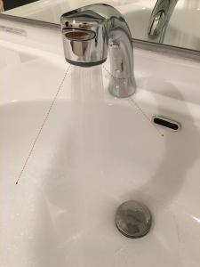 シャワーの水が変な方向に飛び散る