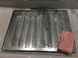 金属フィルターの掃除