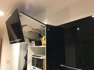 レンジ使用中の家電収納
