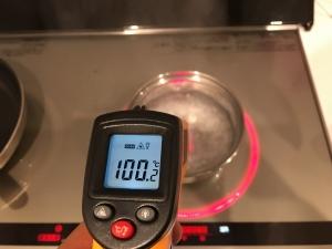 お湯の温度を放射温度計で計る2回目