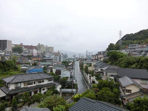 雨の長崎で~す。