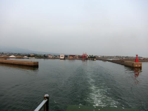 長崎側の多比良港、しばしの別れ。