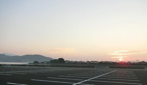 日の出です。