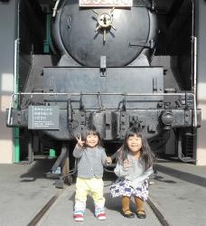孫と鉄道博物館 2