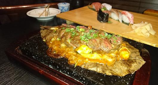 氷見ステーキ+寿司