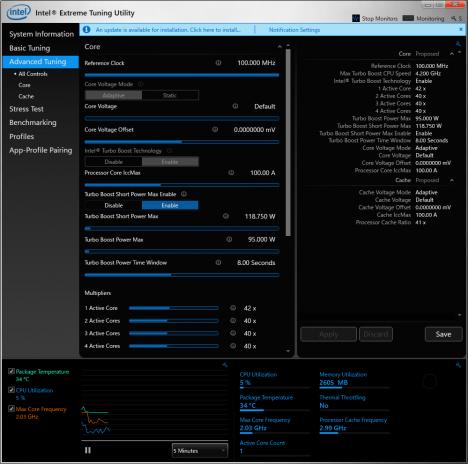 Intel Extreme Tuning Utility_core i7-6700K