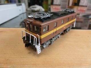 組み立て終わった「鉄コレ 三岐鉄道ED459」