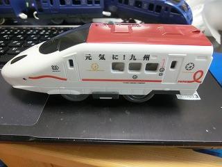 「元気に!九州」ラッピングの800系新幹線