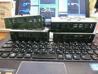 グリーン塗装した「パレオエクスプレス用客車」③