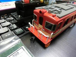 加工前の岳南電車ED403プラレール