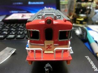 ライトレンズを装着した「岳南電車 ED403 プラレール」