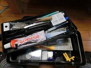 工具類を入れ替えた工具箱内