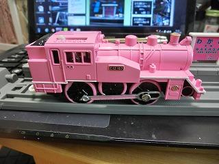 完成した「若桜鉄道 C12-167 ピンク塗装車」