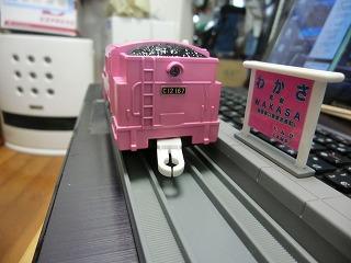 完成した「若桜鉄道 C12-167 ピンク塗装車」③