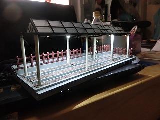 電飾点灯を確認した「山北鉄道公園 D52展示スペース風情景」