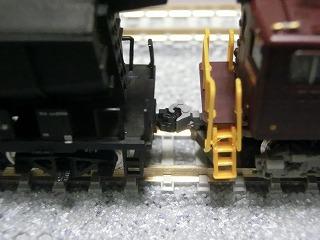 ホキ5700と連結させた鉄コレ「東武ED5010」加工品