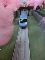 「山北の桜のトンネル」モジュールを走行する車両③