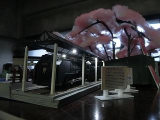 「山北鉄道公園 D52展示スペース風情景」のライトアップ