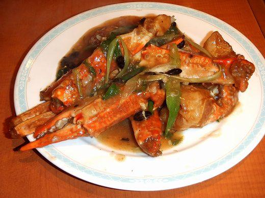 10渡り蟹と黒豆炒めP8170087