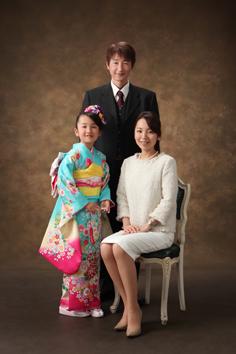 七五三前撮群馬伊勢崎ゆりえちゃん和装ご家族写真