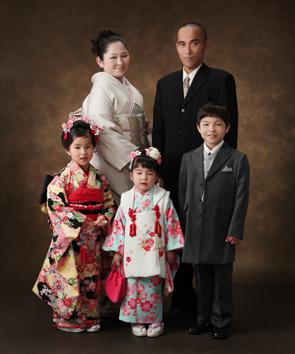 七五三ご家族写真