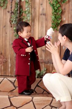 バースデーフォト群馬伊勢崎そうすけ君2歳誕生日ママと
