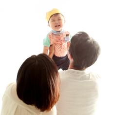 バースデーフォト群馬伊勢崎しょうた君1歳誕生日ご家族