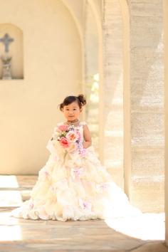 七五三群馬伊勢崎前撮3歳うたちゃん洋装ドレス外ロケーションガーデン