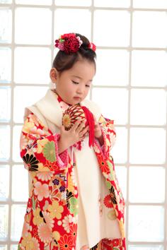 七五三群馬伊勢崎前撮3歳うたちゃん和装自然光