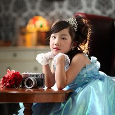 七五三群馬伊勢崎前撮7歳みとちゃん洋装ドレス