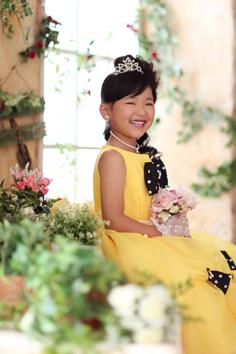 七五三群馬伊勢崎前撮7歳るいちゃん洋装自然光