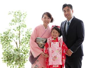 七五三ゆりなちゃん家族写真伊勢崎