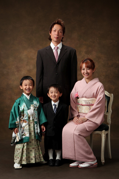 七五三のあくん家族写真伊勢崎