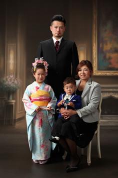 七五三みゆちゃん家族写真伊勢崎