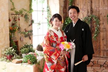 和装婚礼写真伊勢崎写真館フォトスタジオ色打掛