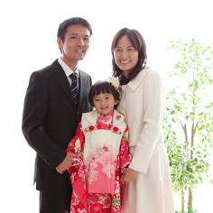 七五三群馬伊勢崎前撮みおちゃんご家族写真和装