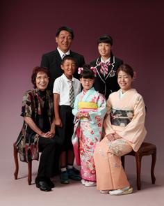 七五三群馬伊勢崎前撮すずはちゃんご親族写真