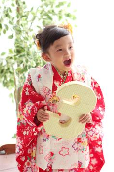 七五三群馬伊勢崎前撮りんちゃん和装3歳