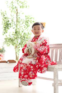 七五三群馬伊勢崎前撮りんちゃん和装3歳自然光