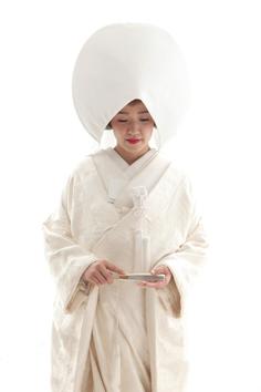 五十木さま和装婚礼伊勢崎写真館綿帽子